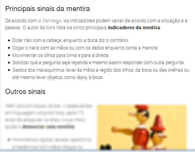 Mentira Sites - IBRALC